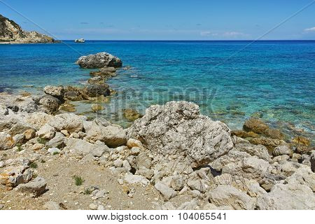 Amazing view of the Agios Nikitas Beach, Lefkada
