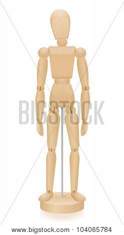 Lay Figure Wooden Mannequin Basic Position