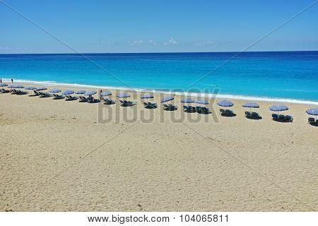 Amazing panorama of Katisma Beach, Lefkada, Ionian Islands