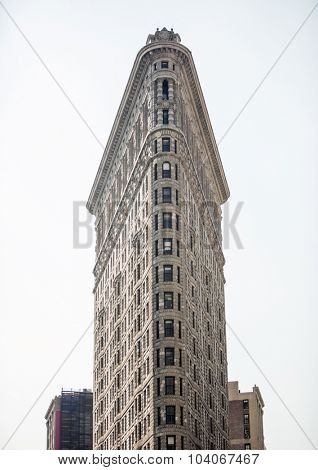NEW YORK, USA - Sept 18th, 2015: The famous Flatiron building on Broadway designated a New York landmark in 1966.
