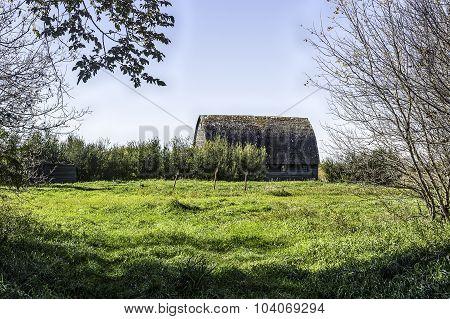 Abandoned Barn And Homestead