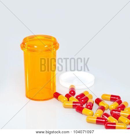 Macro of medical pills.