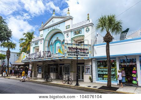 People At Cinema Theater Strand In Key West