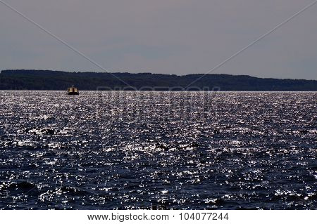 Boat on Little Traverse Bay