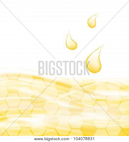 Abstract Background with Sweet Honey Drips