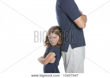 Girl Mad At Father
