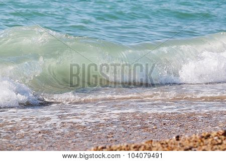 Background with the image of a sea wave