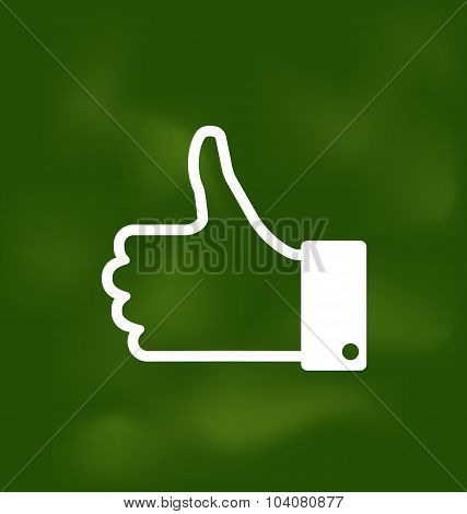 Icon of Thumb Up on School Board