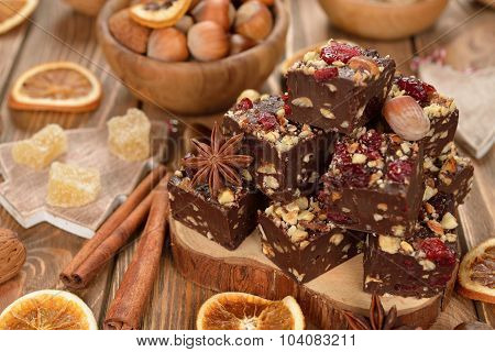 Traditional Christmas Chocolate Fudge