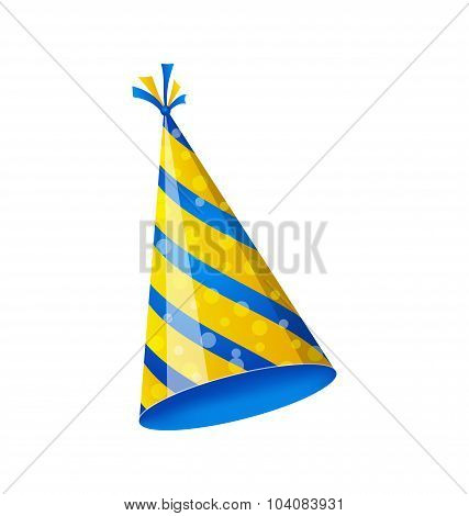 Birthday hat isolated on white background