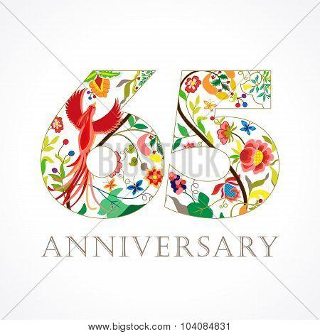 65 anniversary ethnic numbers.