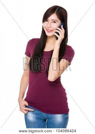 Asian young woman chat on the mobile phone