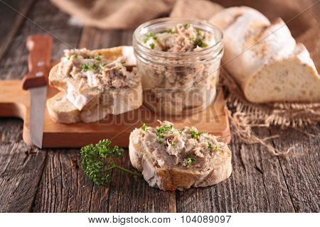 meat spread and bread