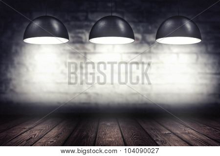 Room With Three Spotlight Lamps