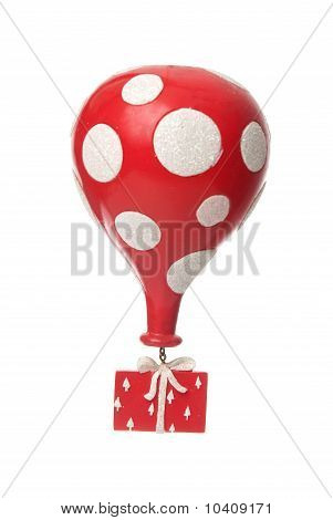 Red Gift With Balloon