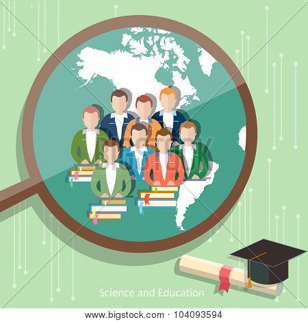 Education Group Of Students Distance Learning Higher Online Education International E-learning