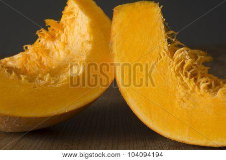 Pieces of pumpkin