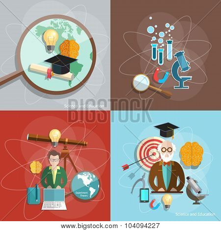 Science And Education Distance Education Professor Teacher Students Scientific Experiments Lecture