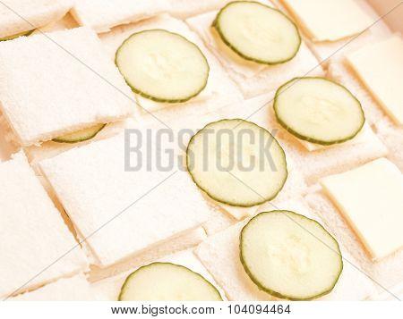 Retro Looking Cucumber Sandwich
