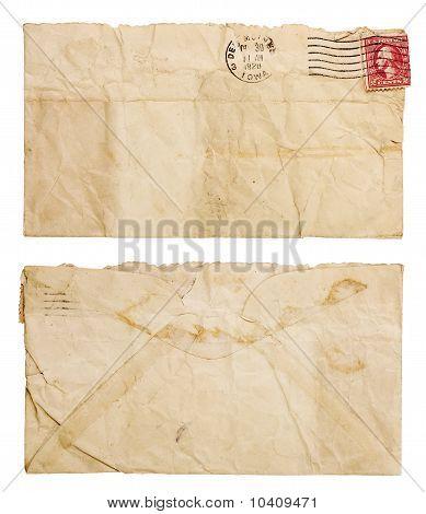 Old, Wrinkled Envelope