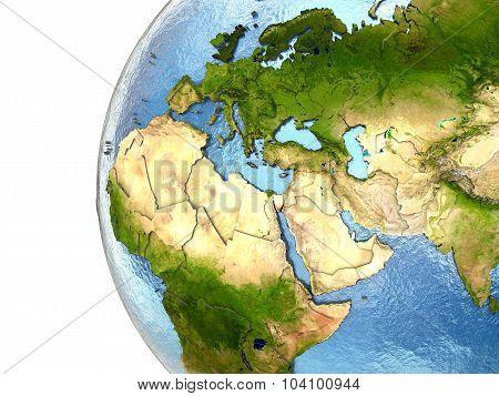 Emea Region On Earth