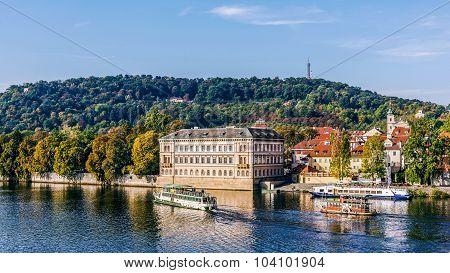 Boats on the Vltava River