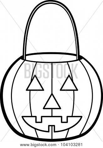 pumpkin jack o' lantern shaped pail