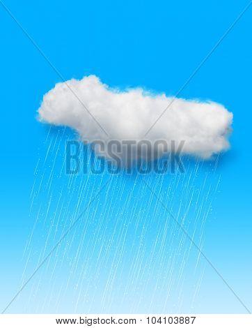 Rain over blue