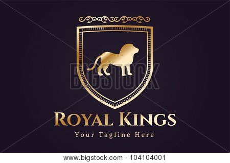 Royal logo vector logo. Lion logo. Kings symbol. Royal crests monogram. Kings Top hotel. Lion logo. Royal hotel, Premium brand boutique, Fashion logo, Lawyer logo. Vintage logo, modern style