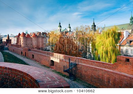 Barbican in Warsaw - Fortified Medieval Outpost