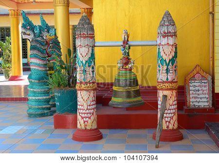 Bell Inside The Buddha Pagoda In Yangon