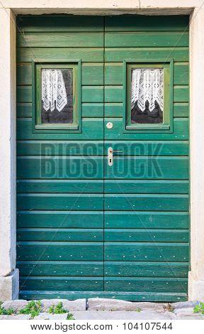 Double-wing Front Door Green