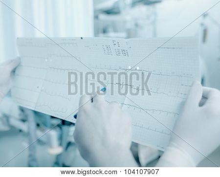 Discussion Between Doctors About The Patient's Cardiogram