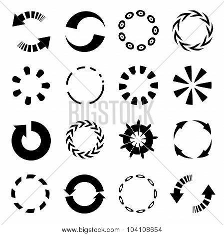 circular arrows, reload arrows