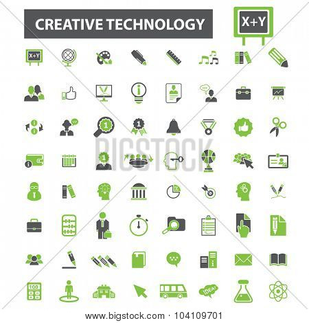 creative education, technology icons