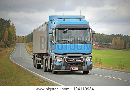 Renault Trucks T Semi On Autumn Road
