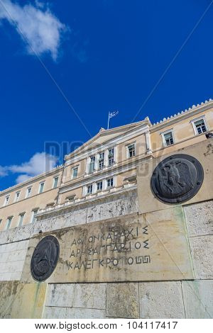 Athens, Greece, the parliament on Syntagma square (ex king's palace)