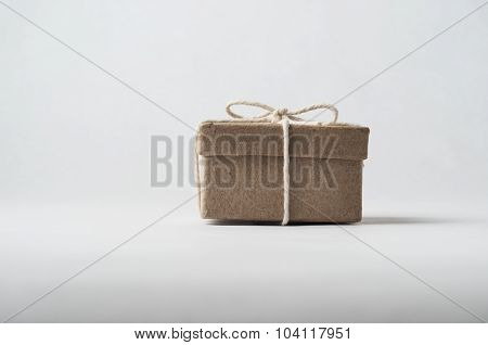 Small Brown Package Tied With String