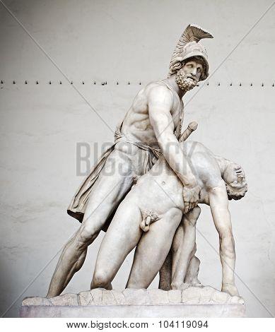 Patroclo E Menelao Statue In Florence