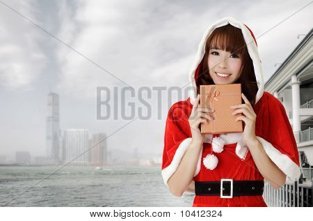 Asian Christmas Woman