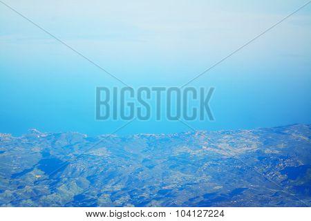Aerial View Of An Italian Coast