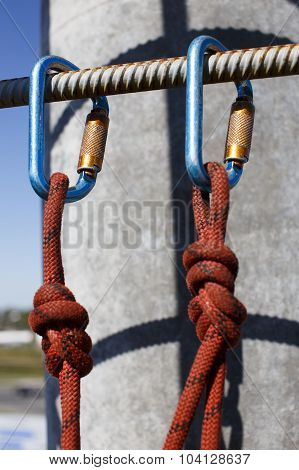 nautical knots and carabiners
