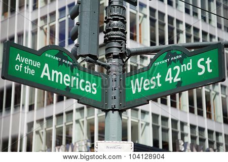 Street sign New York City