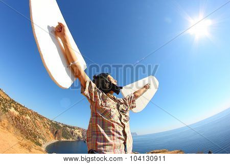 boy with wings and the sun