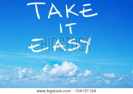 Take It Easy Written In The Sky With An Airplane