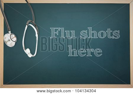 flu shots against stethoscope