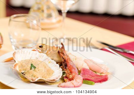 Seafood Appetizer And Crudite