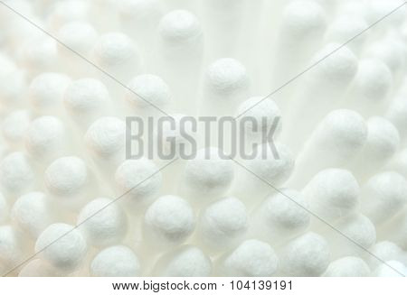 Close Up Of Cotton Buds Background