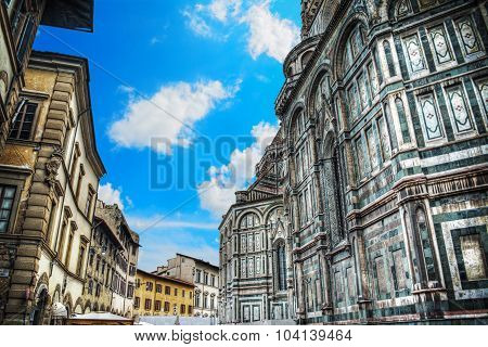 Piazza Duomo In Florence