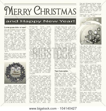 Christmas Newspaper